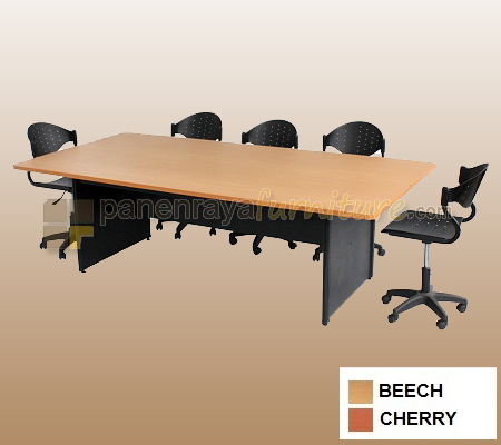 MEJA MEETING LUNAR PERSEGI 240 BEECH/CHERRY