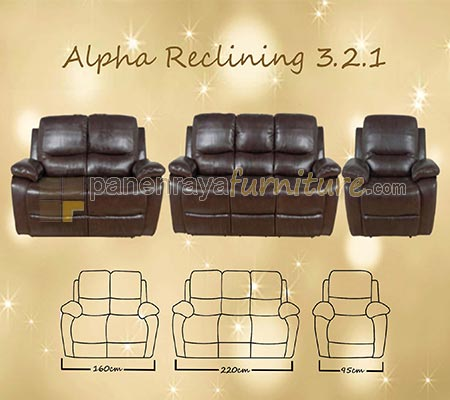 PLATINUM SOFA 321 ALPHA 5 RECLINING
