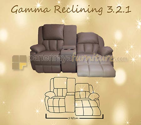 PLATINUM SOFA RECLINING 321 GAMMA 5RC