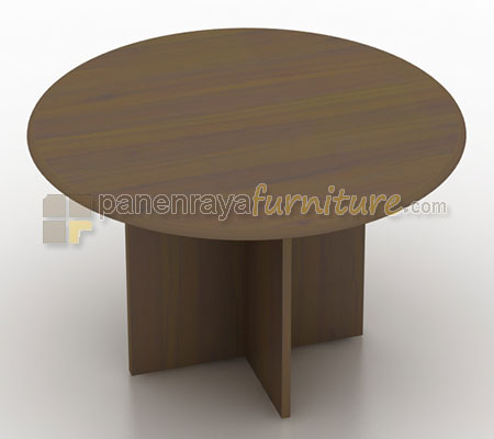MEJA MEETING MODERA BUNDAR 120CM WALNUT
