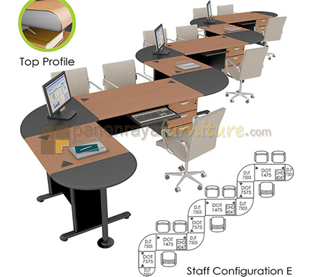 WORKSTATION SET EURO DIAMOND STAFF CONFIGURATION E