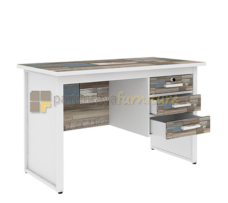 MEJA KANTOR EXPO NS 1260 (120x60) PUZZLE WHITE