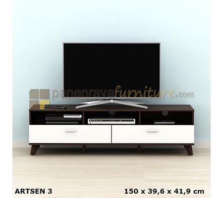 MEJA / RAK TV MINIMALIS PRODESIGN ARSEN TV 153 (PUTIH - COKLAT) 150x40