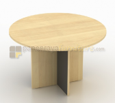 Panen Raya MEJA MEETING MODERA BUNDAR 120CM MAPLE