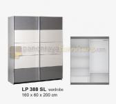 Panen Raya LEMARI PAKAIAN 2 PINTU SLIDING SIANTANO EQUITY  LP 388 SL (Grey-Whitewash) 160x60