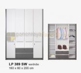 Panen Raya LEMARI PAKAIAN 4 PINTU SIANTANO EQUITY LP 389 SW (Grey-Whitewash) 160x60