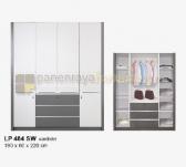 Panen Raya LEMARI PAKAIAN 4 PINTU SIANTANO EQUITY LP 484 SW (Grey-Whitewash) 190x60