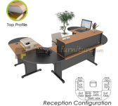 Panen Raya MEJA RECEPTIONIS SET EURO DIAMOND RECEPTION CONFIGURATION