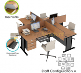 Panen Raya WORKSTATION SET EURO DIAMOND STAFF CONFIGURATION A
