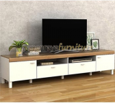 Panen Raya MEJA TV PRODESIGN BENEDICT TV 210 TANPA TV (White - YELLOW)