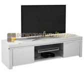 Panen Raya MELODY TV STAND ATLANTIC 2D MEJA TV TANPA TV (WHITE GLOSSY)