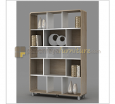 Panen Raya MELODY DINO BOOKCASE (SONOMA OAK LIGHT - WHITE)