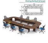 Panen Raya MEJA KANTOR MODERA MEETING CONFIG 8-18 PERSON WALNUT 582x282
