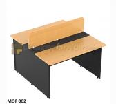Panen Raya MODERA MOF 802 OFFICE DESK 2 SEATER BEECH 80x129