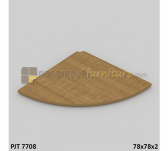 Panen Raya JOINT TABLE MODERA PJT 7708 JOINT TABLE (FOR CONFERENCE CONFIGURATION) CLASSIC WALNUT 78x78