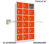 Panen Raya Locker 18 Pintu Kozure KL 18 Orange