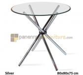 Panen Raya MEJA CAFE SIANTANO MC 005 (Silver) 80x80