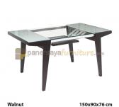 Panen Raya MEJA MAKAN SIANTANO DT 398 (Walnut) 150x90