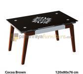 Panen Raya MEJA MAKAN SIANTANO DT FUJIYAMA (Cocoa Brown) 120x80