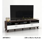 Panen Raya MEJA / RAK TV MINIMALIS PRODESIGN ARSEN TV 153 (PUTIH - COKLAT) 150x40